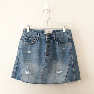We the Free by Free People A-Line Jean Skirt